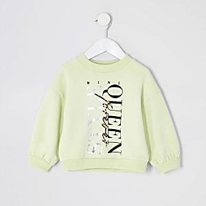 """Mini – Sweatshirt """"Style Queen"""" in Gelb für Mädchen"""