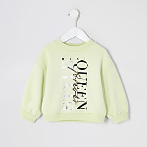 Sweat jaune « Style queen » Mini fille