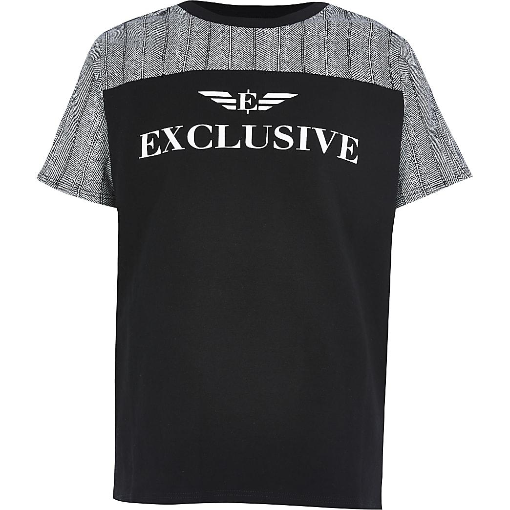 T-shirt« Exclusive »noir colour block pour garçon