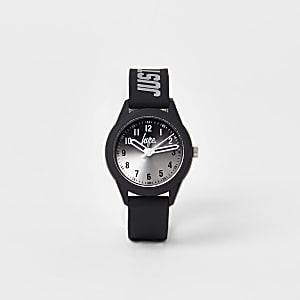 Hype - Zwart horloge met ombre wijzerplaat