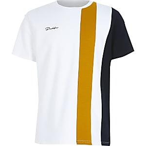 T-shirt Prolific blanc aux couleurs contrastées pour garçon