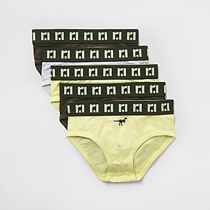 Mini boys khaki 'Dino' RI boxers 5 pack