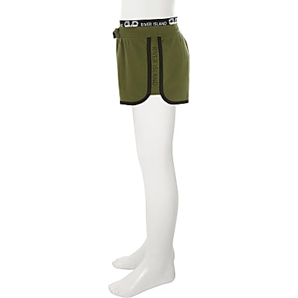 Girls khaki RI runner shorts