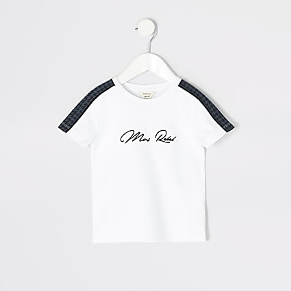Mini boys white 'Mini Rebel' T-shirt