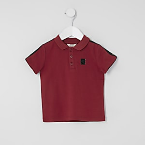 Polo rouge à bande Mini garçon
