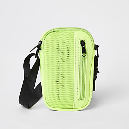 Boys green Proflic mesh cross body bag