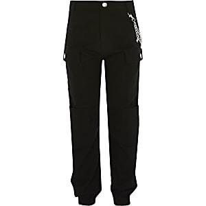 Pantalon cargo noir RI avec chaînepour fille