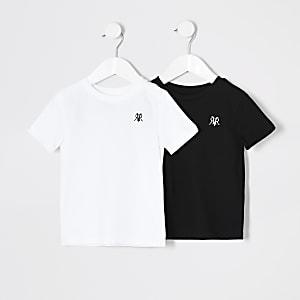 RVR – Weißes T-Shirt für kleine Jungen im 2er-Pack