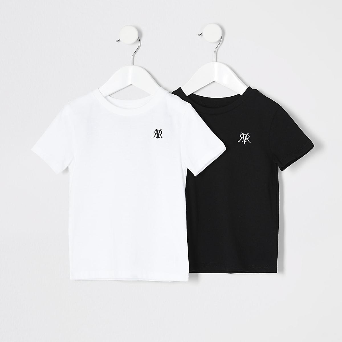 Mini boys white RVR T-shirt 2 pack