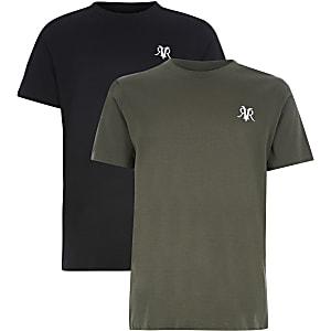 Lot de 2 t-shirts RVR kaki à manches courtes pour garçon