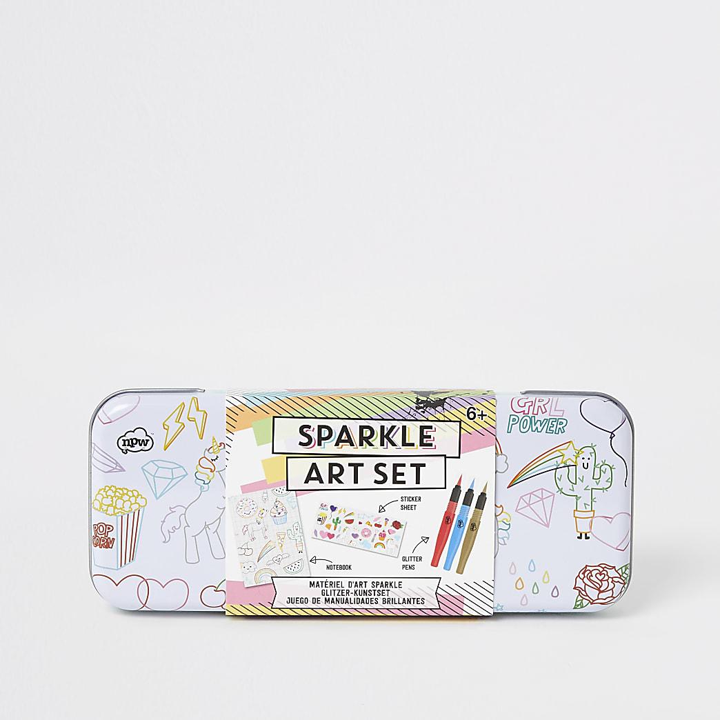 Girls sparkle art set
