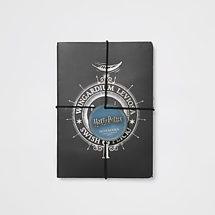 Kids Harry Potter black notebooks 2 pack
