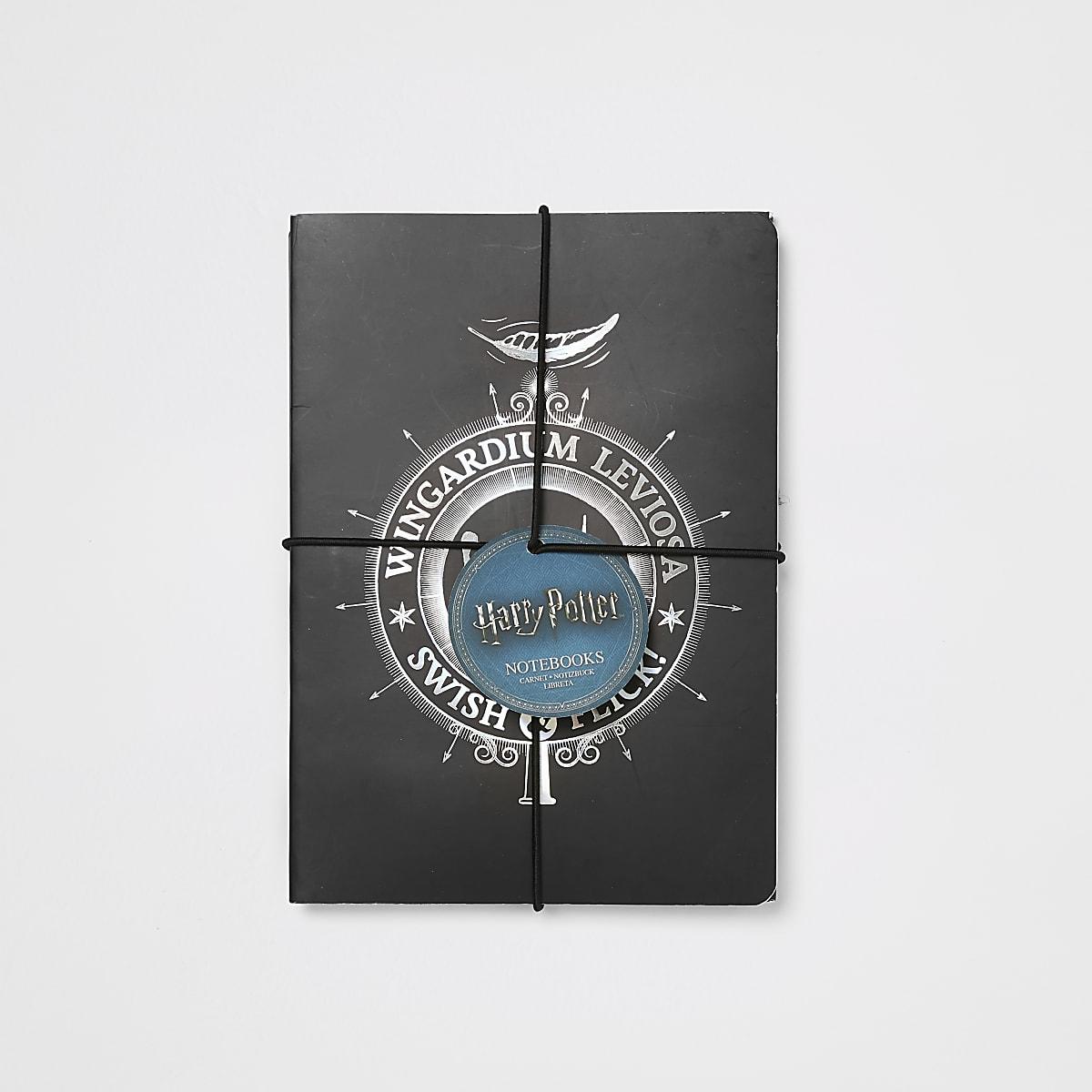 Boys Harry Potter black notebooks 2 pack