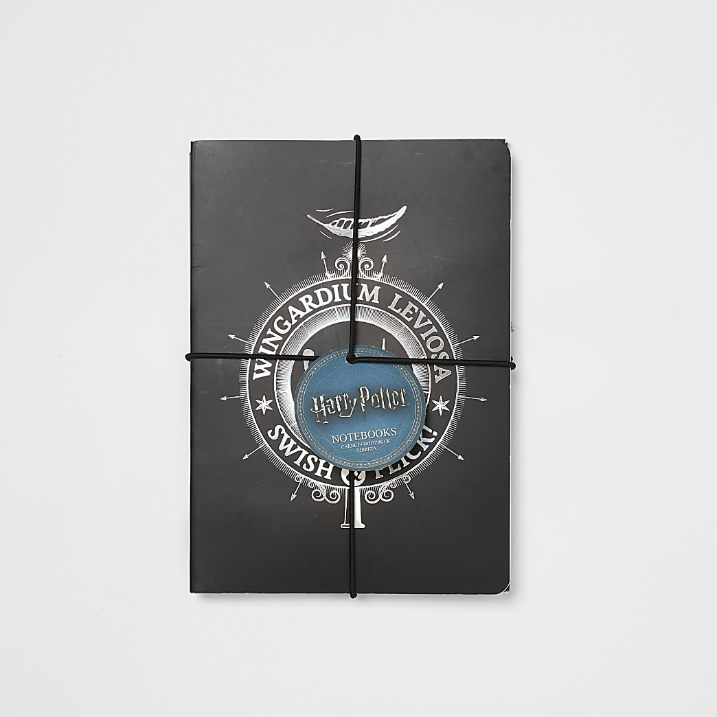 Kids Harry Potter black notebooks 2 pack