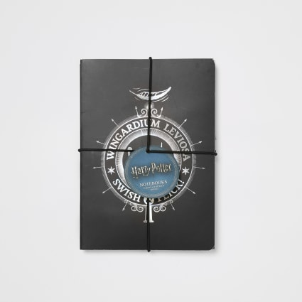 Boys Harry Potter black notebooks 2 pack