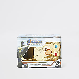 Goldfarbener Avengers-Becher in Faustform für Jungen