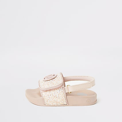 Mini girls pink glitter RI sliders