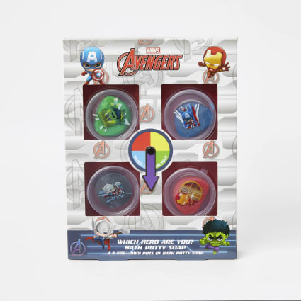 Kids Avengers bath putty soap set