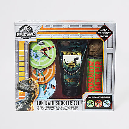 Boys Jurassic water shooter bath set