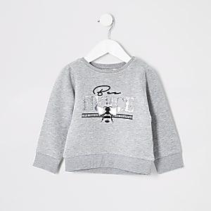 Mini - Grijs 'Beefierce' sweatshirt voor meisjes