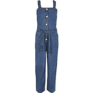 Blauer Jeansoverall für Mädchen