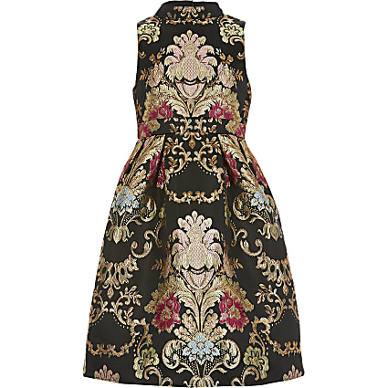Girls Chi Chi black Amberley dress