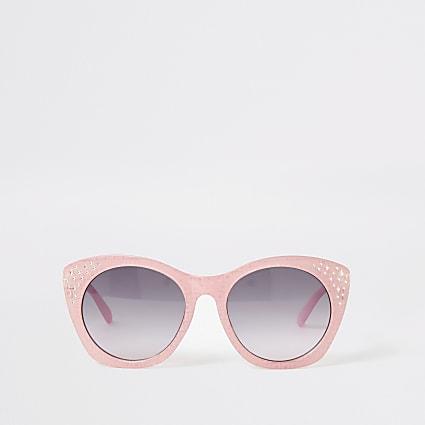 Girls pink RI embellished glam sunglasses