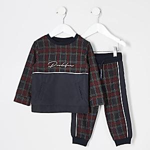 Prolific- Rode outfit met sweater voor mini-jongens