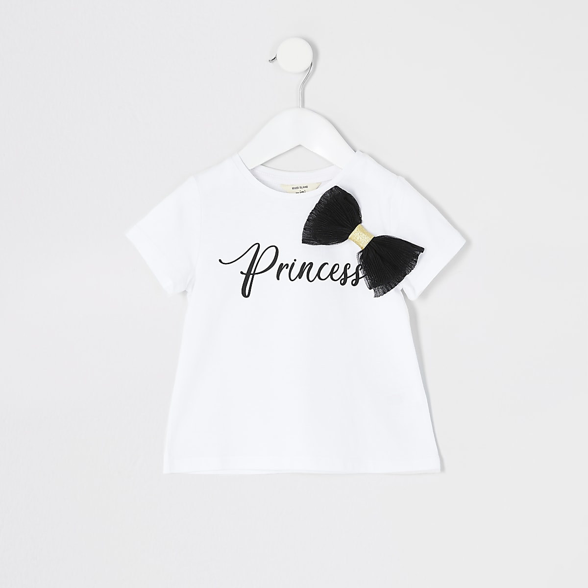 Mini girls 'Princess' bow  T-shirt