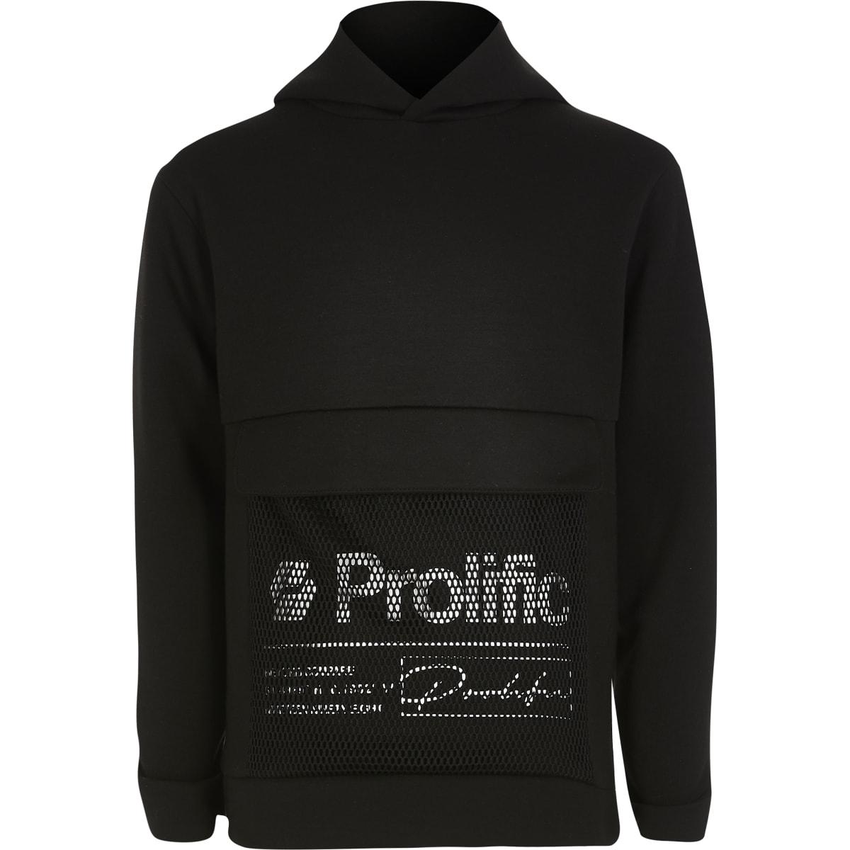 Prolific – Schwarzer Mesh-Hoodie