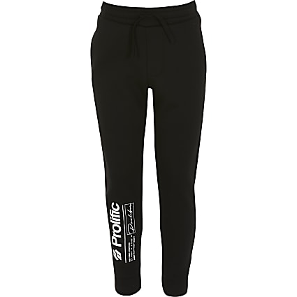 Boys black Prolific joggers