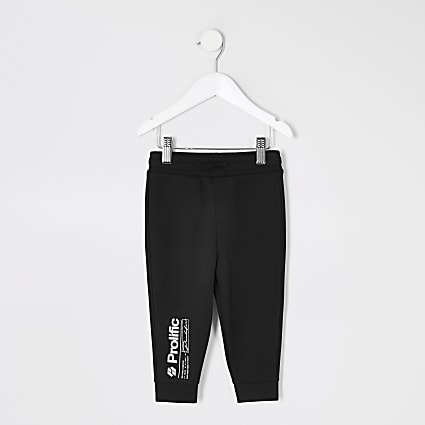 Mini boys black Prolific joggers