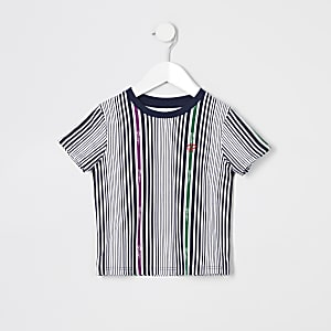 Mini – Prolific– Weiß gestreiftes T-Shirt für Junge