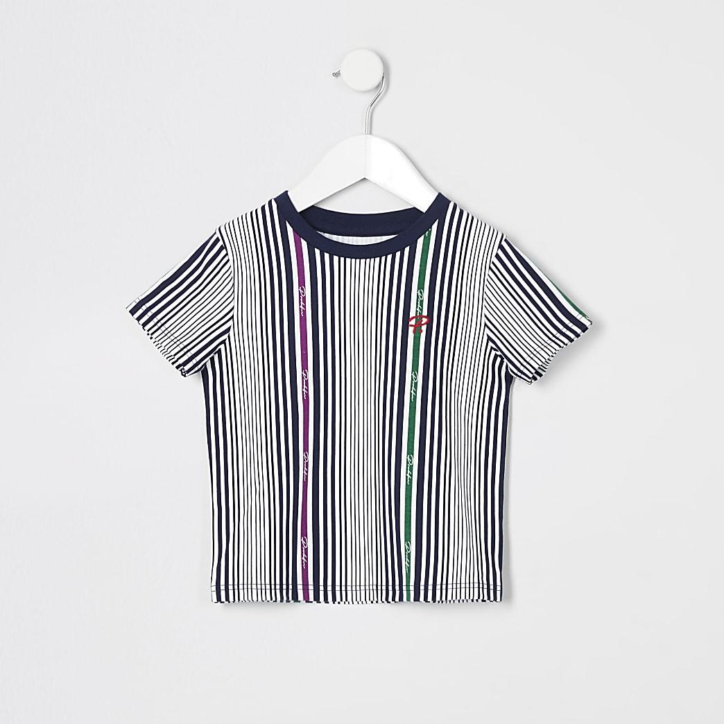 Mini boys white Prolific stripe T-shirt
