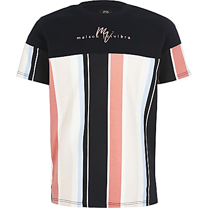Boys navy stripe Maison Riviera T-shirt