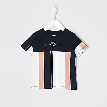 Mini boys navy stripe Mini Rebel T-shirt