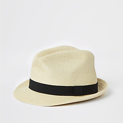 Mini boys stone badge embellished trilby hat