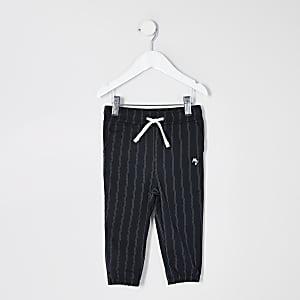 Pantalon de jogging habillébleu marine à fines rayures Mini garçon