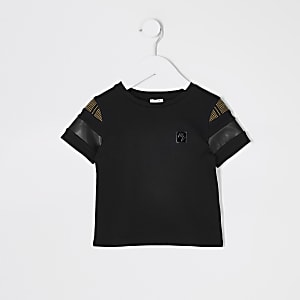 T-shirt Maison RIviera noir colour block Mini garçon