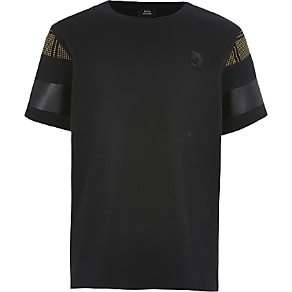 Boys black blocked Masion Riviera T-shirt