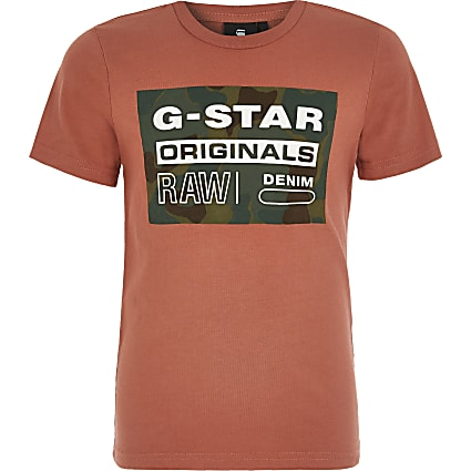 Boys G-Star Raw red printed T-shirt