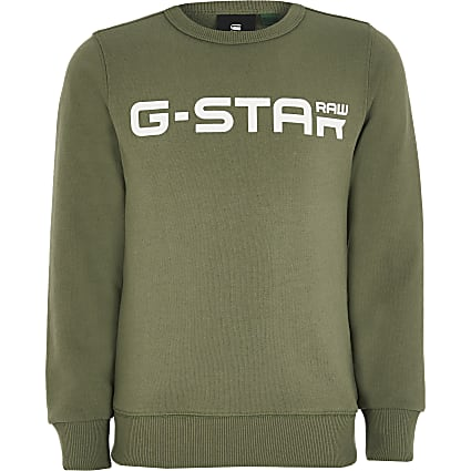Boys G-Star Raw khaki logo sweatshirt