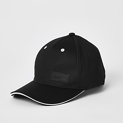 Boys black RVR mesh cap