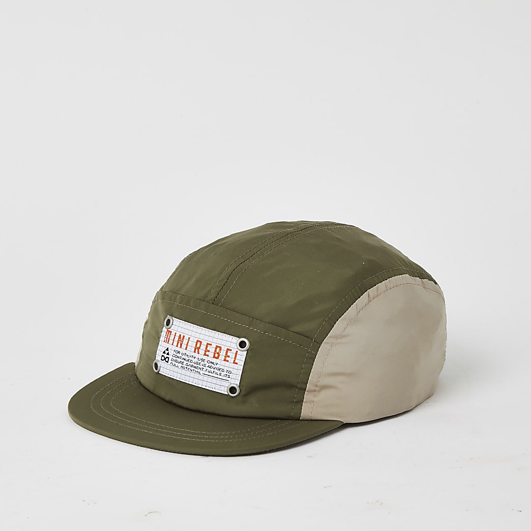 Mini boys khaki 'Mini Boss' 5 panel cap