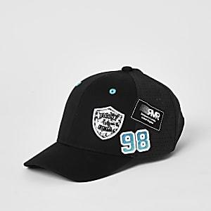 Mini – Mesh-Kappe in Schwarz mit Aufnähern