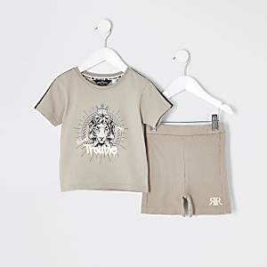 """Mini – Beiges Loungewear-Set """"Trouble"""""""