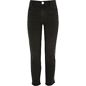 Zwarte high rise rechte jeans voor meisjes