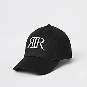 Zwarte mesh pet met RIR-letters