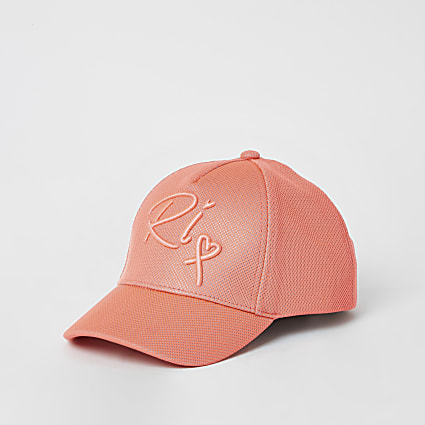 Mini girls coral mesh RI cap