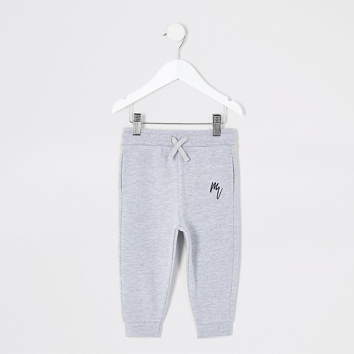 Mini boys grey Maison Riviera joggers